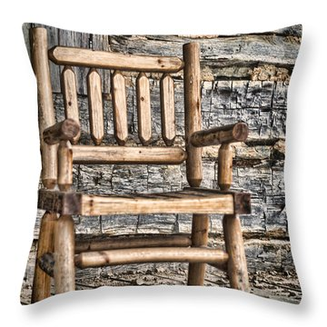 Porch Chair Throw Pillow by Heather Applegate