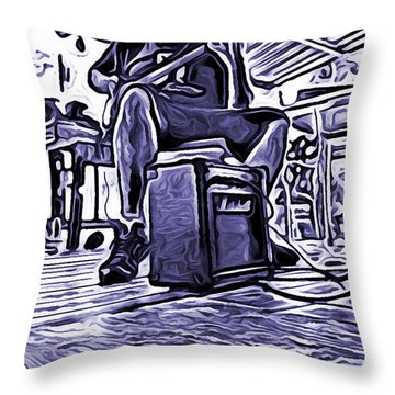 Porch Pickin Throw Pillow