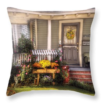 Porch - Westfield Nj - The House Of An Angel Throw Pillow by Mike Savad