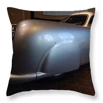 Throw Pillow featuring the photograph Porsche 1949 356 S L Gmund Coupe by John Schneider
