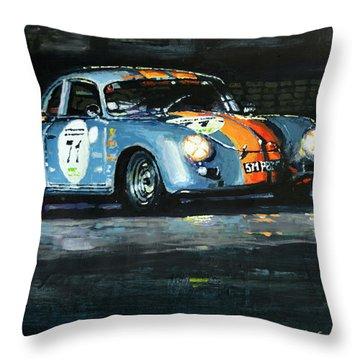 Porsche 356 A 1959 Le Mans Classic 2010 Throw Pillow