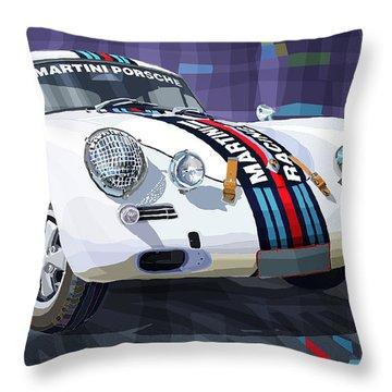 Porsche 356 Martini Racing Throw Pillow by Yuriy Shevchuk