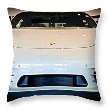 Porsche 911 50th Front With Led's Throw Pillow
