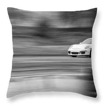 Porsche 911 Gt3 Supercar Throw Pillow
