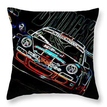 Porsche 911 Racing Throw Pillow