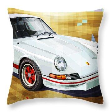 Porsche 911 Rs Throw Pillow