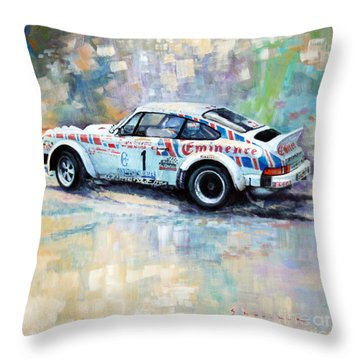 Porsche 911 Sc  Rallye Sanremo 1981 Throw Pillow by Yuriy Shevchuk