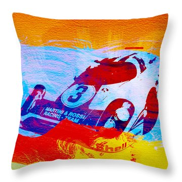Porsche 917 Martini And Rossi Throw Pillow