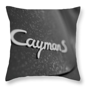 Standing Porsche Cayman S Throw Pillow by Miguel Winterpacht