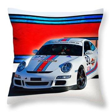 Porsche Gt3 Martini Throw Pillow