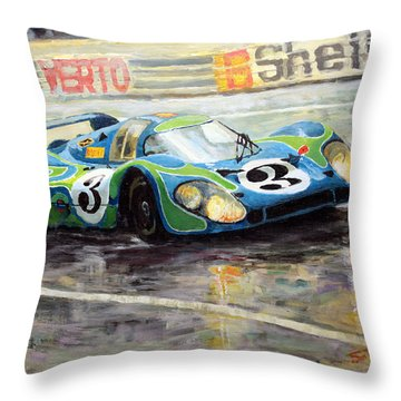 Porsche Psychedelic 917lh  1970  Le Mans 24  Throw Pillow