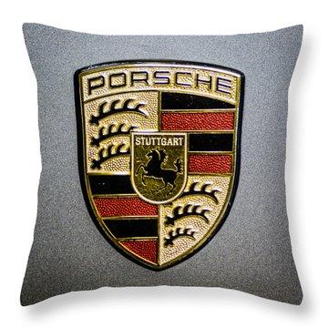 Porsche Throw Pillow by Randy Scherkenbach