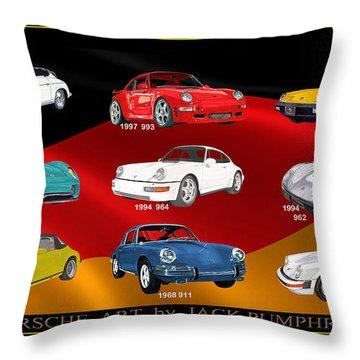 Porsche Times Nine Throw Pillow