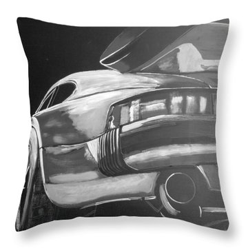Throw Pillow featuring the painting Porsche Turbo by Richard Le Page