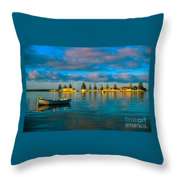 Port Albert Bay Throw Pillow