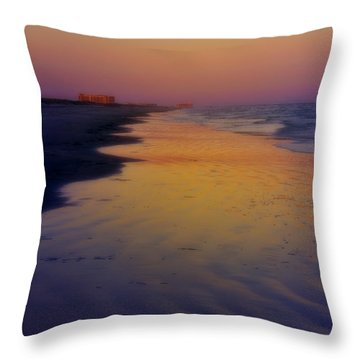 Throw Pillow featuring the photograph Port Aransas Sunset by Ellen Heaverlo