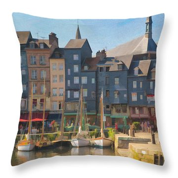 Port D'honfleur Throw Pillow