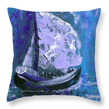 Port In The Storm Throw Pillow by Donna Blackhall