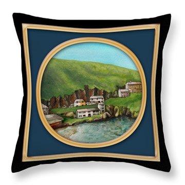Port Isaac Throw Pillow