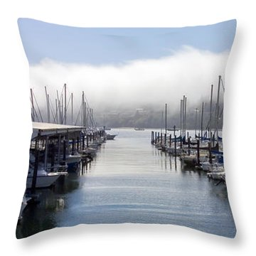 Throw Pillow featuring the photograph Port Kingston Marina by Greg Reed