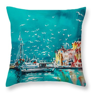 Port Throw Pillow