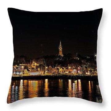 Port Lights Throw Pillow by James  Meyer