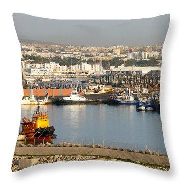Port Of Agadir Morocco 1 Throw Pillow