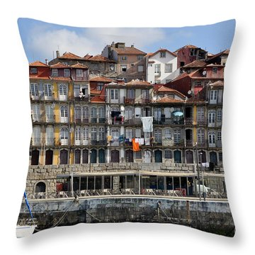 Throw Pillow featuring the photograph Port Of Call by Sandy Molinaro