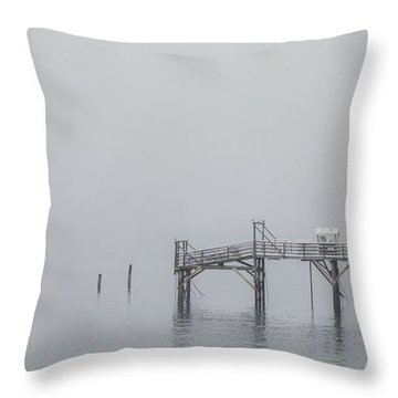 Port Of Mystery Throw Pillow