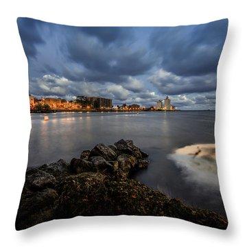 Port Of Oswego Throw Pillow