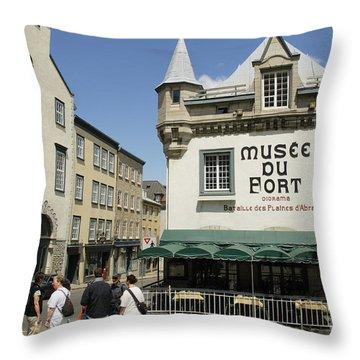Port Of Quebec Throw Pillow