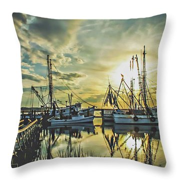 Port Royal Throw Pillow by Jessica Brawley