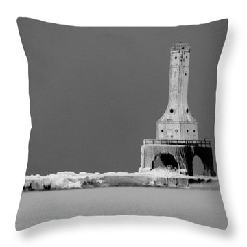 Port Washington Harbor Throw Pillow by Tiffany Erdman