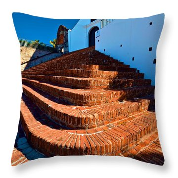 Porta Coeli Steps Throw Pillow