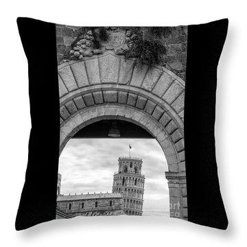 Porta Di Pisa Throw Pillow