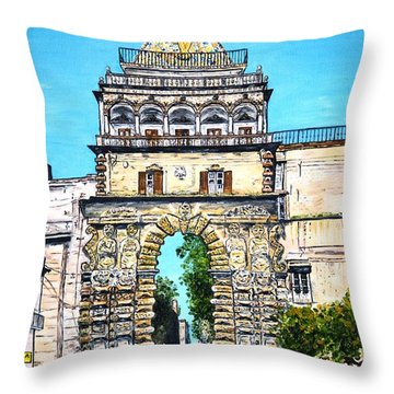 Porta Nuova - Palermo Throw Pillow