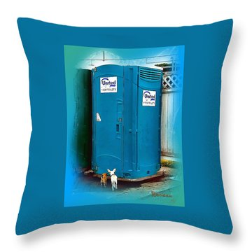 Porta Puppy Potty... Throw Pillow by Sadie Reneau