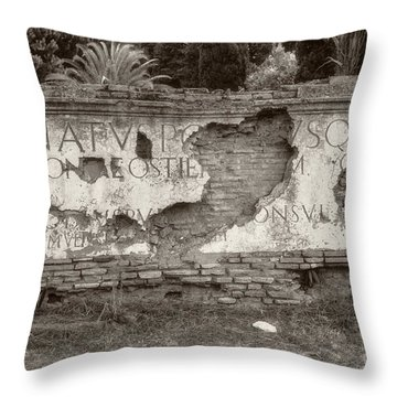 Porta Romana In Sepia Throw Pillow