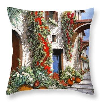 Porta Rossa Porta Blu Throw Pillow by Guido Borelli