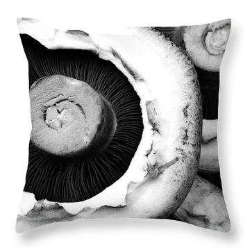 Portabellini Throw Pillow by Anne Gilbert