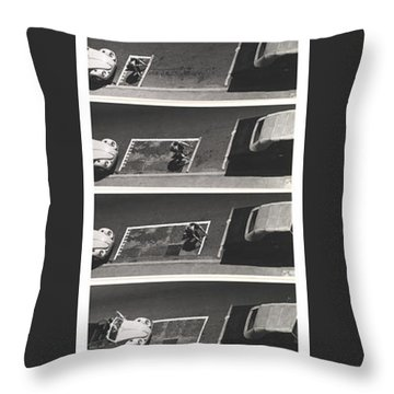 Portable Parking Space Throw Pillow by Blue Sky