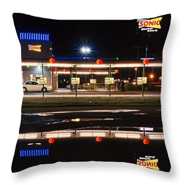 Portageville Sonic Drive-in Throw Pillow