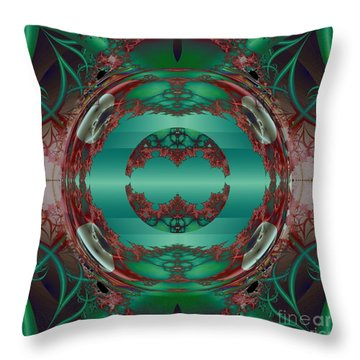 Portal / Escape Hatch  Throw Pillow by Elizabeth McTaggart