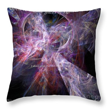 Throw Pillow featuring the digital art Portal by Margie Chapman