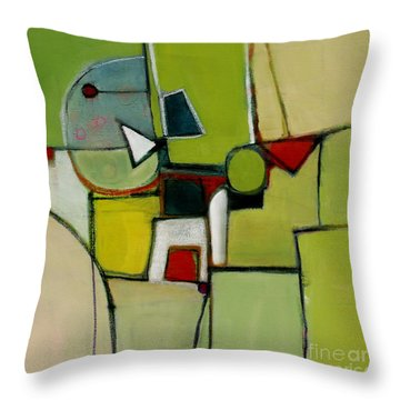 Throw Pillow featuring the painting Portal No.1 by Michelle Abrams