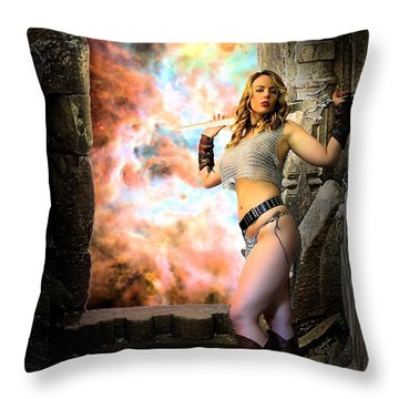 Portal Of Magic Throw Pillow
