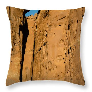 Throw Pillow featuring the photograph Portal Through Stone by Jeff Kolker