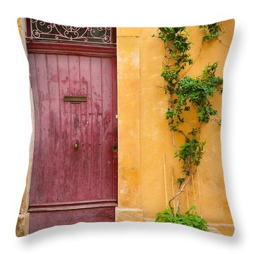 Porte Rouge Throw Pillow by Inge Johnsson