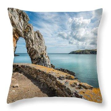 Porth Wen Arch Throw Pillow