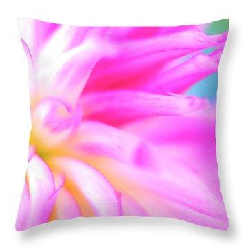 Portland Dahlia Throw Pillow by Kathy Yates